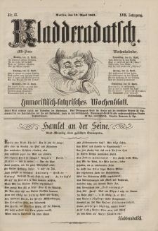 Kladderadatsch, 17. Jahrgang, 10. April 1864, Nr. 17