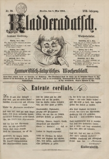 Kladderadatsch, 17. Jahrgang, 1. Mai 1864, Nr. 20