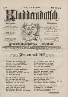 Kladderadatsch, 17. Jahrgang, 7. August 1864, Nr. 36