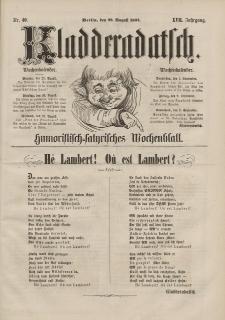 Kladderadatsch, 17. Jahrgang, 28. August 1864, Nr. 40