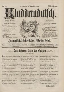 Kladderadatsch, 17. Jahrgang, 11. September 1864, Nr. 42