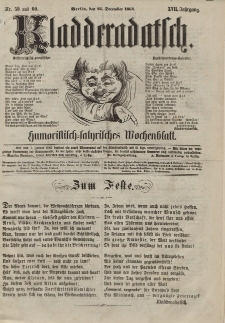 Kladderadatsch, 17. Jahrgang, 25. Dezember 1864, Nr. 59/60