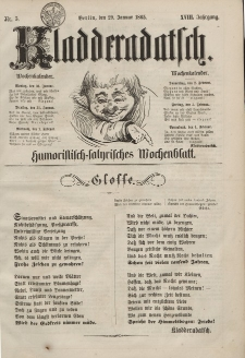 Kladderadatsch, 18. Jahrgang, 29. Januar 1865, Nr. 5