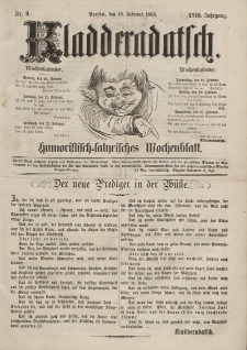Kladderadatsch, 18. Jahrgang, 19. Februar 1865, Nr. 9