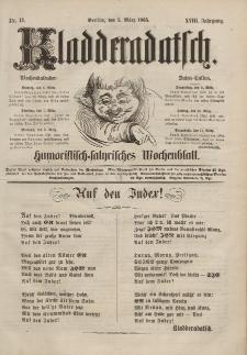 Kladderadatsch, 18. Jahrgang, 5. März 1865, Nr. 11