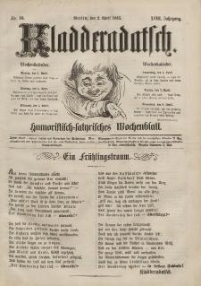 Kladderadatsch, 18. Jahrgang, 2. April 1865, Nr. 16