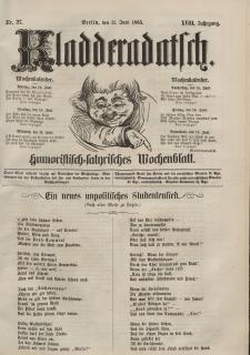 Kladderadatsch, 18. Jahrgang, 11. Juni 1865, Nr. 27