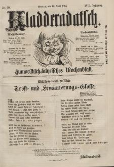 Kladderadatsch, 18. Jahrgang, 18. Juni 1865, Nr. 28
