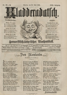 Kladderadatsch, 18. Jahrgang, 25. Juni 1865, Nr. 29/30