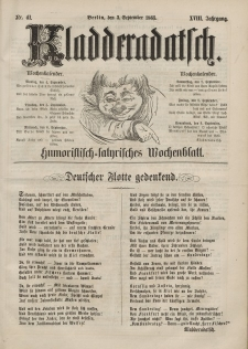 Kladderadatsch, 18. Jahrgang, 3. September 1865, Nr. 41