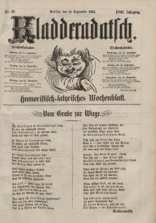 Kladderadatsch, 18. Jahrgang, 10. September 1865, Nr. 42