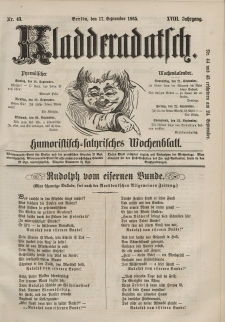 Kladderadatsch, 18. Jahrgang, 17. September 1865, Nr. 43