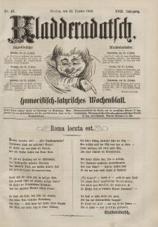 Kladderadatsch, 18. Jahrgang, 22. Oktober 1865, Nr. 49