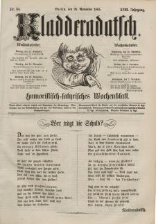 Kladderadatsch, 18. Jahrgang, 26. November 1865, Nr. 54