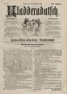 Kladderadatsch, 18. Jahrgang, 10. Dezember 1865, Nr. 56