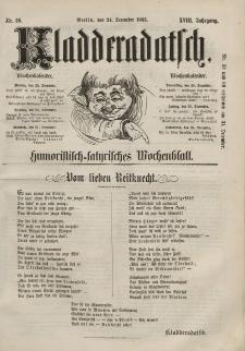 Kladderadatsch, 18. Jahrgang, 24. Dezember 1865, Nr. 58