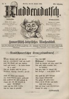 Kladderadatsch, 19. Jahrgang, 28. Januar 1866, Nr. 4