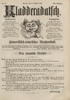Kladderadatsch, 19. Jahrgang, 11. Februar 1866, Nr. 6