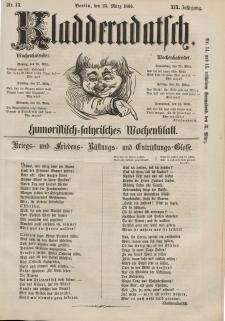 Kladderadatsch, 19. Jahrgang, 25. März 1866, Nr. 13