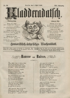 Kladderadatsch, 19. Jahrgang, 8. April 1866, Nr. 16
