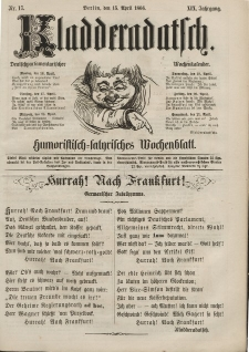 Kladderadatsch, 19. Jahrgang, 15. April 1866, Nr. 17