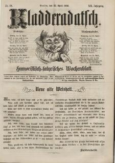 Kladderadatsch, 19. Jahrgang, 22. April 1866, Nr. 18