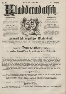 Kladderadatsch, 19. Jahrgang, 6. Mai 1866, Nr. 20