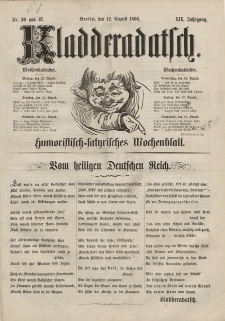 Kladderadatsch, 19. Jahrgang, 12. August 1866, Nr. 36/37