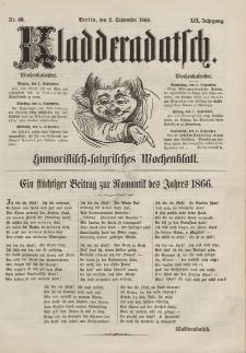 Kladderadatsch, 19. Jahrgang, 2. September 1866, Nr. 40