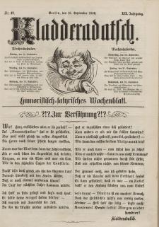 Kladderadatsch, 19. Jahrgang, 16. September 1866, Nr. 42