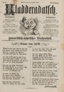 Kladderadatsch, 19. Jahrgang, 14. Oktober 1866, Nr. 47