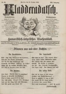 Kladderadatsch, 19. Jahrgang, 21. Oktober 1866, Nr. 48