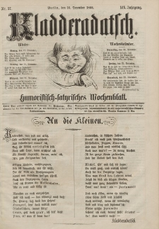 Kladderadatsch, 19. Jahrgang, 16. Dezember 1866, Nr. 57
