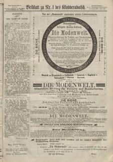 Kladderadatsch, 20. Jahrgang, 6. Januar 1867, Nr. 1 (Beiblatt)