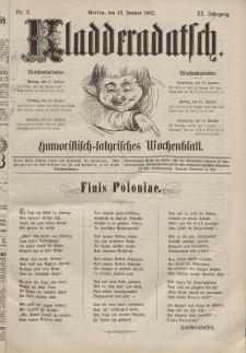 Kladderadatsch, 20. Jahrgang, 13. Januar 1867, Nr. 2