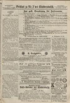Kladderadatsch, 20. Jahrgang, 13. Januar 1867, Nr. 2 (Beiblatt)