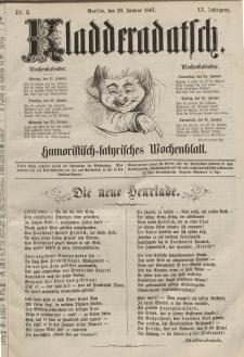 Kladderadatsch, 20. Jahrgang, 20. Januar 1867, Nr. 3