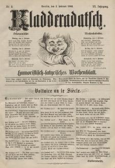 Kladderadatsch, 20. Jahrgang, 3. Februar 1867, Nr. 5