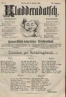 Kladderadatsch, 20. Jahrgang, 10. Februar 1867, Nr. 6