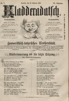 Kladderadatsch, 20. Jahrgang, 17. Februar 1867, Nr. 7