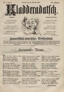 Kladderadatsch, 20. Jahrgang, 24. Februar 1867, Nr. 8/9