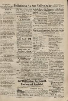 Kladderadatsch, 20. Jahrgang, 24. Februar 1867, Nr. 8/9 (Beiblatt)