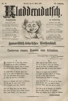 Kladderadatsch, 20. Jahrgang, 17. März 1867, Nr. 12