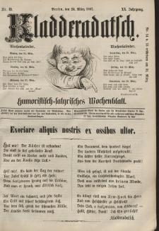 Kladderadatsch, 20. Jahrgang, 24. März 1867, Nr. 13