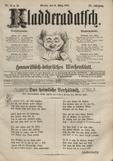 Kladderadatsch, 20. Jahrgang, 31. März 1867, Nr. 14/15