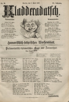 Kladderadatsch, 20. Jahrgang, 7. April 1867, Nr. 16