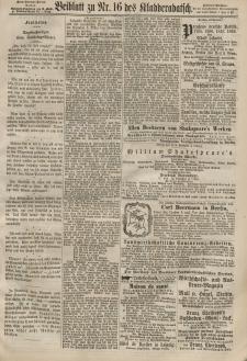Kladderadatsch, 20. Jahrgang, 7. April 1867, Nr. 16 (Beiblatt)