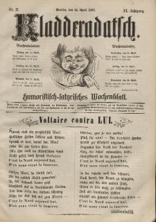 Kladderadatsch, 20. Jahrgang, 14. April 1867, Nr. 17