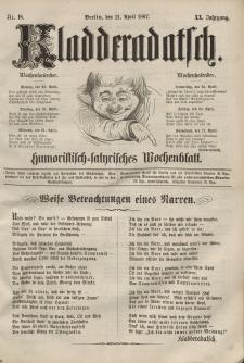Kladderadatsch, 20. Jahrgang, 21. April 1867, Nr. 18