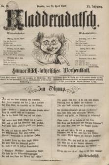 Kladderadatsch, 20. Jahrgang, 28. April 1867, Nr. 19